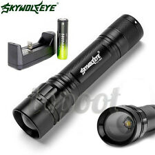 5000LM 3 Modes CREE XML T6 LED Flashlight Lamp Light Torch 18650 Battery+Charger