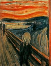 Classic Norwegian Expressionist  art print:  The Scream by Edvard Munch