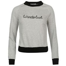 Glamorous Womens Wanderlust Sweater Blouse Pullover Long Sleeve Crew Neck Top