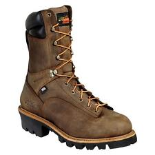 New Thorogood 10 Inch Logger 400G WP Saftey Toe 804-3510 Brown Lace Up Work Boot
