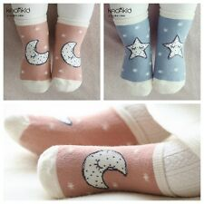 Cute Newborn Baby Toddler Kids Cotton Warm Anti-skid Elastic Cute Cartoon Socks