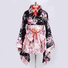 New Kimono Japanese Lolita Maid Uniform Outfit Anime Cosplay Costume Dress