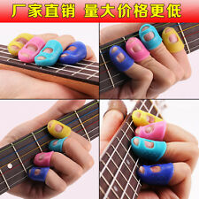 4pcs Celluloid Guitar Ukulele Thumb Picks Finger Picks Plectrum Band