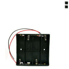 """3 x Holder Case box for 4 18650 17650 Li-ion Battery with 6"""" Wire Lead"""