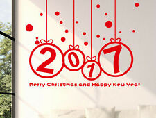 New Year 2017 Merry Christmas Vinyl Wall Sticker Home Windows Decal Decor DIY