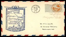 BUFFALO NY OCT 26 1937 AM 34 TO BALTIMORE MD COVER