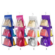 Wall Hanging Organizer Handbag Wardrobe Closet Storage Bag Pocket