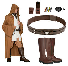 Jedi Robe Tunic Belt Boots+ Compatible with an Obi Wan Costume