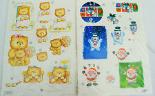 A4 DIE CUT Decoupage Sheets PLUS 3 x A5 Matching Backing Papers Per Pack NEW