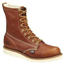 """New Thorogood 8"""" American Heritage Wedge 814-4009 Mens Tobacco Lace Up Work Boot"""