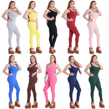 Sexy Womens Backless Bodycon Jumpsuit Sleeveless Bodysuit Romper Pants Clubwear