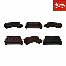 Salvatore Leather Right Hand Corner Sofa Settee- Choice of Type and Colour:Argos
