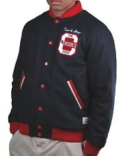 Crooks & Castles Block Runners Woven Stadium Varsity Jacket w Buttons NWT