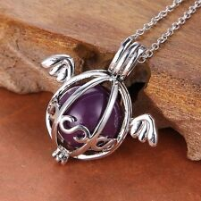 Angel Wing sounds bell Charm Locket Pendant Pregnant Women chimes ball Necklace