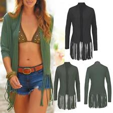 Sexy Long Sleeve Tassel Cardigan Tops Shawl Coat Kimono T-shirt Jacket for Women
