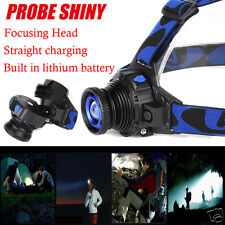 5000LM 3 Modes Cree Q5 LED Waterproof Headlight Headlamp Zoomable Torch+Charger