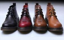 New Mens British Style Casual Lace Up Leather Biker Motorcycle Ankle Boots Shoes