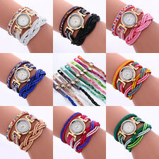 1pc 8Colors Rhinestone Bracelet Women Watch Quartz Wristwatch Relogio Watches