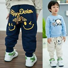 Baby Kids Boys Girls Casual Printed Harem Long Pants Trousers Leggings Bottoms