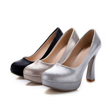 Women's Party Shoes Synthetic Leather Platform High Heels Pumps AU All Size s021