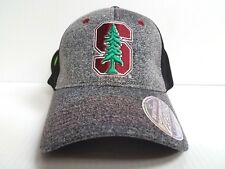 Stanford Cardinal Cap Zephyr Stretch Fit Fitted Graphite Mesh Hat NCAA