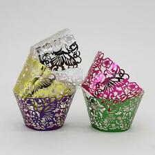 50xCake Wrap Cup Butterfly Pearly Cake 3D Muffin Paper Cake Cup Wrapper 3 Colors