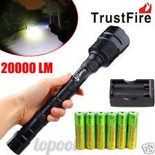XLightFire 30000 Lumens 12x CREE XML T6 5 Mode 18650 Super Bright LED Flashlight