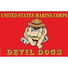 United States Marine Corps Devil Dogs Flag with Grommets 2ft x 3ft