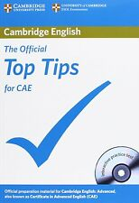 The Official Top Tips for CAE with CD-ROM, Cambridge ESOL, Very Good condition,