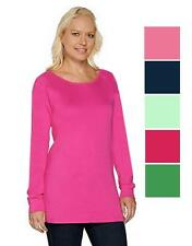 NEW QUACKER FACTORY Raglan Sleeve Tunic Top Many Sizes 240631RM