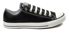 New CONVERSE ALL STAR LO Classic Casual Women Men Sneakers Shoes BLACK LEATHER