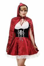 Women's Costume Sexy Little Red Riding Hood Fairytale Wolf Cosplay L064