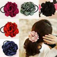 Hair Band Rose Flower Rope Ponytail Holder Scrunchie Elastic Hair Accessories