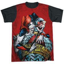 Batman DC Comics Superhero Harley Quinn Crime Scene Adult Black Back T-Shirt Tee