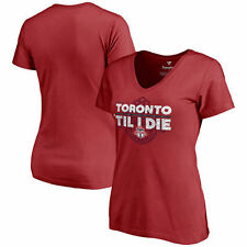 Toronto FC Women's For The Cup Slim Fit V-Neck T-Shirt - Red - MLS