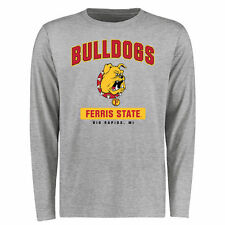 Ferris State Bulldogs Big & Tall Campus Icon Long Sleeve T-Shirt - Ash - College