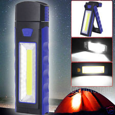 Magnetic COB LED ABS Flashlight Camping Inspection Work Night Light Torch Lamp