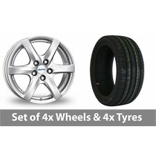 "4 x 14"" Alutec Blizzard Silver Alloy Wheel Rims and Tyres -  165/70/14"