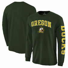 Oregon Ducks Distressed Arch Over Logo Long Sleeve Hit T-Shirt - Green - NCAA