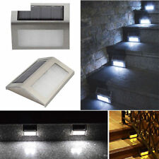 Lamp Solar Power Pathway Home Wall Led Light Outdoor Hot Staircase Garden Yard