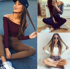 1PCS Sweaters Fit Long Sleeve Casual Fashion Women Knitted Pullovers Hot Stretch