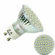 High 60 LED 5W 220V Lamp Bulb White GU10 3528 SMD Power Spot Light 6500K HOT