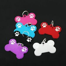 Bone Dog Cat Puppy Pet Collar Tag Personalised Identity ID tag Charms Paw hot