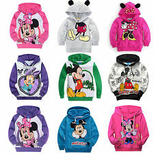 Kids Boy Girls Mickey Cartoon Long Sleeves Hoodies T-Shirt Hoody Sweatshirt Coat