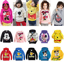 Girls Boys Kids Hoodie Sweatshirt Pullover Jumper Baby Tops Clothes Coat Outfits