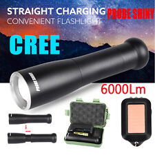 6000Lm Shadowhawk XM-L T6 LED Zoomable Flashlight X800 18650 Focus Torch Lamp UK
