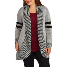 New Concepts Women's Plus Rib Shawl Collar Flyaway Sweater/Jacket FREE SHIP #W