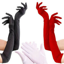 UK Sexy Womens Ladies Prom Evening Party Wedding Bridal Long Finger Satin Gloves