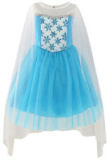 Sunny Fashion Girls Dress Elsa Princess Costume Party Birthday Size 3-12