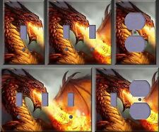 Fire Breathing Dragon Wall Decor Light Switch Plate Cover